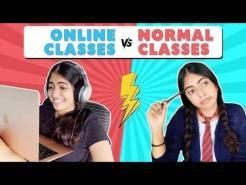 Online Classes Vs Normal Classes | Students During Online Classes |  Nakhrebaaz