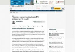 'Teachers should not suffer in DU colleges-govt. tussle'