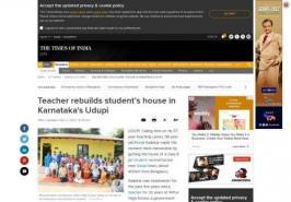 Teacher rebuilds student's house in Karnataka's Udupi