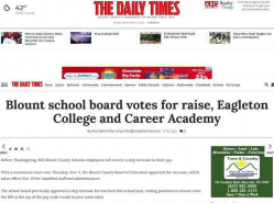 Blount school board votes for raise, Eagleton College and Career Academy