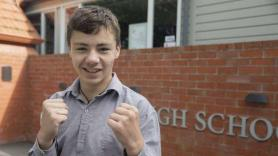 Timaru Boys' High School student wins national kickboxer title