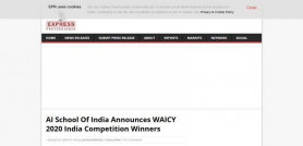 AI School Of India Announces WAICY 2020 India Competition Winners