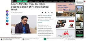 Sports Minister Rijiju launches second edition of Fit India School Week