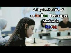 A Day in the Life of an Indian Teenager international student in Korea.