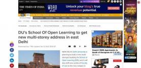 DU's School Of Open Learning to get new multi-storey address in east Delhi
