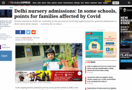 Delhi nursery admissions: In some schools, points for families affected by Covid