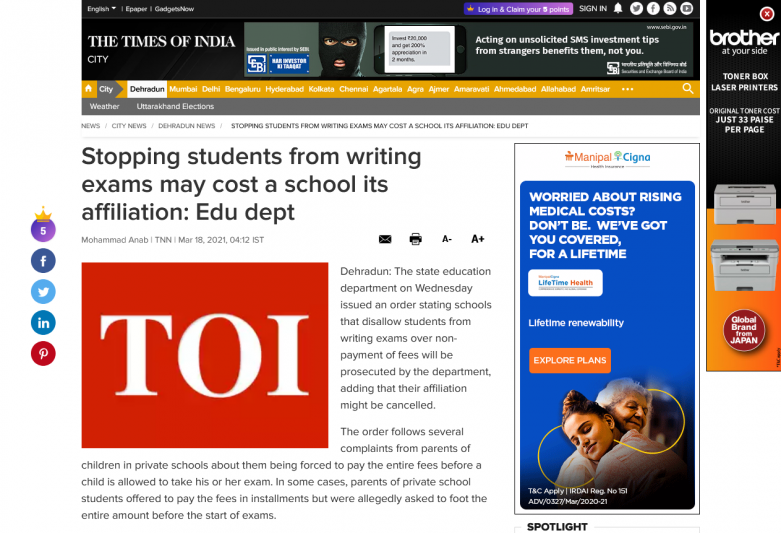Stopping students from writing exams may cost a school its affiliation: Edu dept