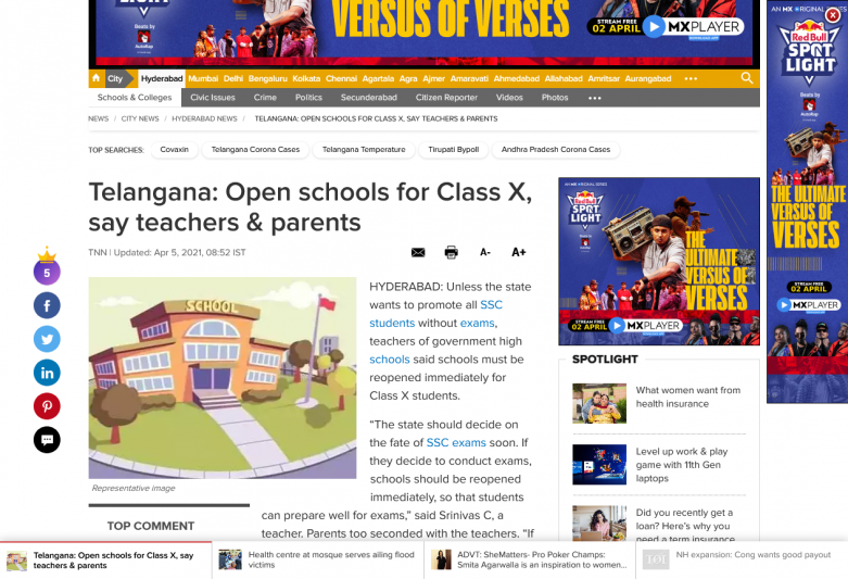 Telangana: Open schools for Class X, say teachers & parents
