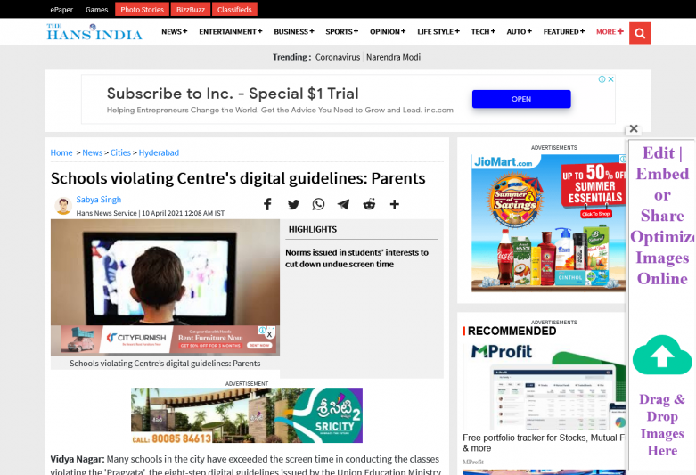 Schools violating Centre's digital guidelines: Parents