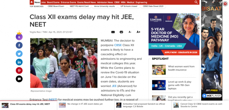 Class XII exams delay may hit JEE, NEET